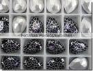 1 Glas-Tropfen Ø 18x13 mm Patina - deep violet/silber