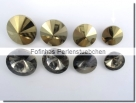 1 Glas-Rivoli 12 mm - crystal gold foiled