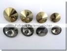 1 Glas-Rivoli 14 mm - crystal gold foiled