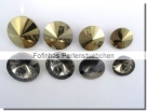 1 Glas-Rivoli 18 mm - crystal gold foiled