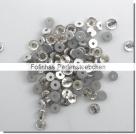 30 Stück Glas-Flatback Xilion Lochrose Ø 3 mm - crystal