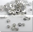 30 Stück Glas-Flatback Xilion Lochrose Ø 5 mm - crystal