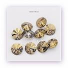 1 Glas-Rivoli 12 mm - Patina - crystal/gold