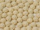 #01.05 10 Stck. 2-Hole Cabochon Rosetta 6mm Alabaster Pastel Cream