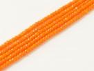 200 facetierte Rondelle 1,5*1mm Tangerine