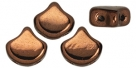 #03.08 - 25 Stück Matubo Ginko Leaf Bead 7.5x7.5mm - Jet Dk Bronze