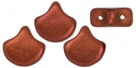 #01.05 - 25 Stück Matubo Ginko Leaf Bead 7.5x7.5mm - Bronze Fire Red