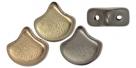 #01.02 - 25 Stück Matubo Ginko Leaf Bead 7.5x7.5mm - Matte - Metallic Leather