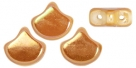 #02.03 - 25 Stück Matubo Ginkgo Leaf Bead 7.5x7.5mm - Chalk White Apricot Full