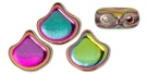 #00.04 - 25 Stück Matubo Ginkgo Leaf Bead 7.5x7.5mm - Crystal Full Vitex