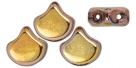 #00.03 - 25 Stück Matubo Ginko Leaf Bead 7.5x7.5mm - Capri Gold Full
