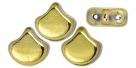 #00.01 - 25 Stück Matubo Ginko Leaf Bead 7.5x7.5mm - Crystal Amber Full