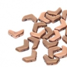 #03.01 - 30 Stück Chevron Duo Bead 10x4mm - Jet Capri Gold Full