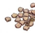 #00.06 - 25 Stück Matubo Ginkgo Leaf Bead 7.5x7.5mm - Crystal Senegal Brown