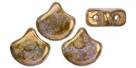 #02.14 - 25 Stück Matubo Ginko Leaf Bead 7.5x7.5mm - Chalk White Senegal Brown