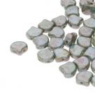 #02.15 - 25 Stück Matubo Ginko Leaf Bead 7.5x7.5mm - Chalk White Lazure Blue