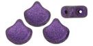 #03.12 - 25 Stück Matubo Ginko Leaf Bead 7.5x7.5mm - Jet Metallic Suede Purple