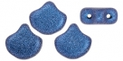 #03.13 - 25 Stück Matubo Ginko Leaf Bead 7.5x7.5mm - Jet Metallic Suede Blue
