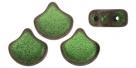 #03.16 - 25 Stück Matubo Ginko Leaf Bead 7.5x7.5mm - Jet Polychrome Sage&Citrus