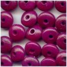 15 Stück Holzlinsen ca. 5x10 mm lila