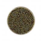 #9214 10 Gramm Rocailles scarabe grün 18/0