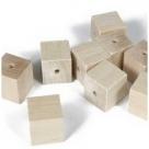 12 Stück Holzwürfel 10x10 mm gebohrt