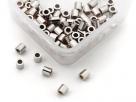 10 Stück Quetschröhrchen Sterlingsilber