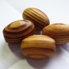 1 Stück Holzolive ca. 27 x 19,5 mm