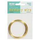 1 x Memory Wire Bracelet - vergoldet - ca. 74 Windungen
