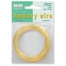 1 x Memory Wire Bracelet - vergoldet - ca. 70 Windungen