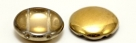 #00.01 5 Stck. 2-Hole Cabochon 18x5mm - Crystal Amber