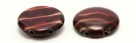 #09.00 5 Stck. 2-Hole Cabochon 18x5mm - Crystal Oxblood/Opal White Marmoriert