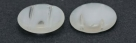 #00.09 5 Stck. 2-Hole Cabochon 18x5mm - Crystal/Opal White