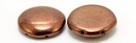 #04.02 5 Stck. 2-Hole Cabochon 18x5mm - Jet Dk Bronze