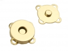 1 Magnet-DRUCK-Verschluss Ø 18 mm  goldfarben