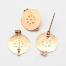1 Stück Kilt-/Anstecknadel  18x3 mm aus Metall - gold plated