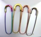 1 Stück Kilt-/Sicherheitsnadel  80x22 mm aus Metall - Gold-farben