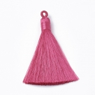 1 Stück Textil-Quaste (ca. 8,0cm) - mit Öse - pink