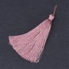 1 Stück Textil-Quaste (ca. 10,0cm) - mit Schlaufe - MistyRose