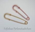 1 Stück Kilt-/Sicherheisnadel  65 mm aus Metall - roségold-farben