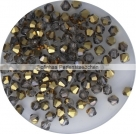 1 Strang Bicone 4 mm half gold metallic (120 Stück)
