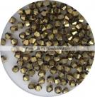 1 Strang Bicone 4 mm brass metallic (120 Stück)