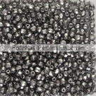 #05.07 50 Stück - 2,0 mm Glasschliffperlen - crystal full chrom