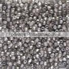 #05.07.01 50 Stück - 2,0 mm Glasschliffperlen - crystal half chrom