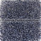 #16.02 - 10 g Rocailles 11/0 2,2 mm Inside-Color Crystal/Jet Lined