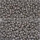 #140.01 10 Gramm Rocailles Opak Grey Luster 9/0 2,6 mm