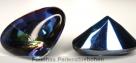 1 Glas Fancy Stone Cabochon Pointed-Back  26x18x13 mm - Backlit Vitrail