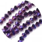 1 Strang Bicone 4 mm metallic purple (100 Stück)