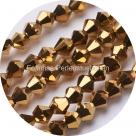 1 Strang Bicone 4 mm metallic brass (100 Stück)
