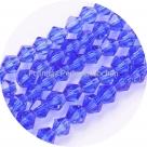 1 Strang Bicone 4 mm tr. blue (100 Stück)